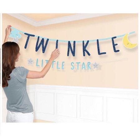 Twinkle Little Star Jumbo Letter Banner](Twinkle Twinkle Little Star Gender Reveal)