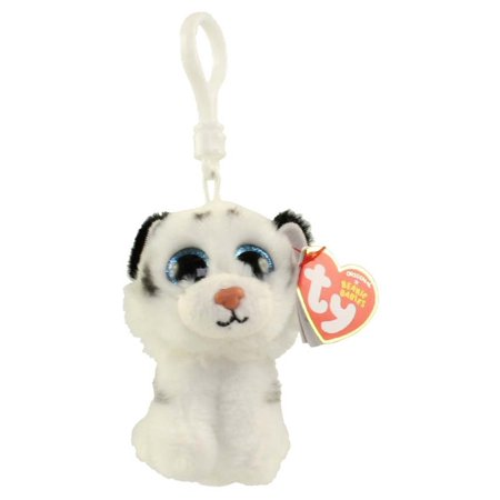TY Beanie Baby - TUNDRA the White Tiger (Plastic Key Clip) (4