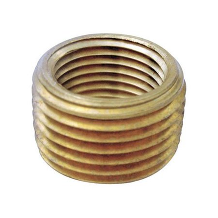 0.5 MPT x 0.37 in. FPT Pipe Face Bushing in Lead Free Yellow Brass