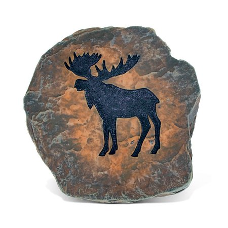 CoTa Global Elegant Intricate Moose Figure The Wild Coaster Decor Collection Wildlife Safari Animal Theme Resin Handcrafted Hand-painted Art Faux Wood Figurine Home Accent Accessories 3.75 Inch Hand Painted Moose