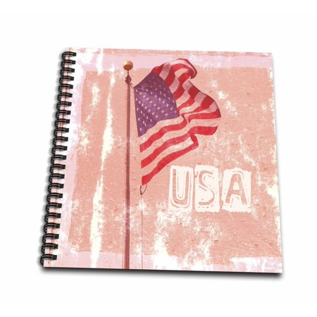 - 3dRose American Flag USA Art Patriotic Americana Photography - Memory Book, 12 by 12-inch