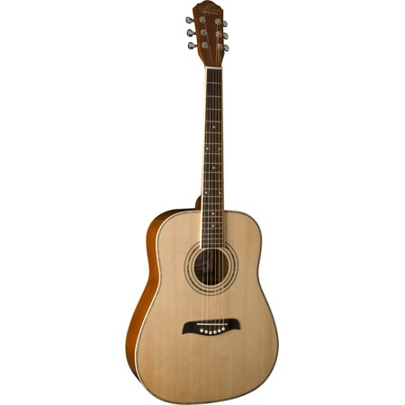Oscar Schmidt 3/4 Size Acoustic Guitar, Left Hand, Spruce Top, Natural,