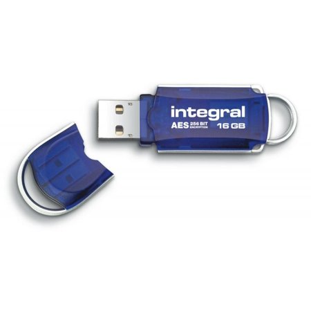 16Gb Integral Courier Fips 197 Encrypted Usb2 0 Flash Drive 256 Bit Encryption