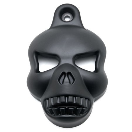 Kapsco Moto Black Skull Head Horn Cover Stock Cowbell Horns Compatible with 1992-2014 Harley Davidson Motorcycles - image 5 of 5