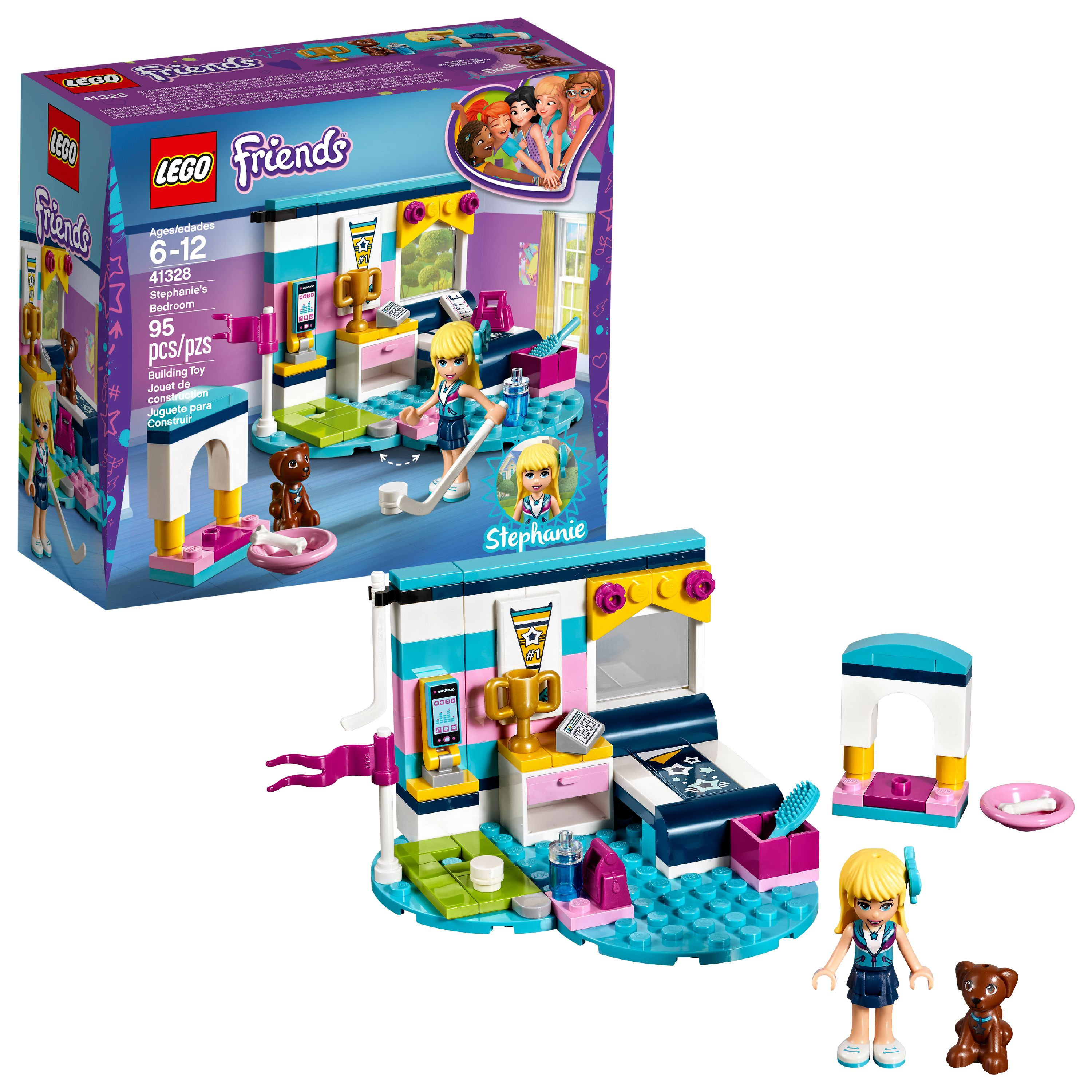 LEGO Friends Stephanie's Bedroom 41328 (95 Pieces)