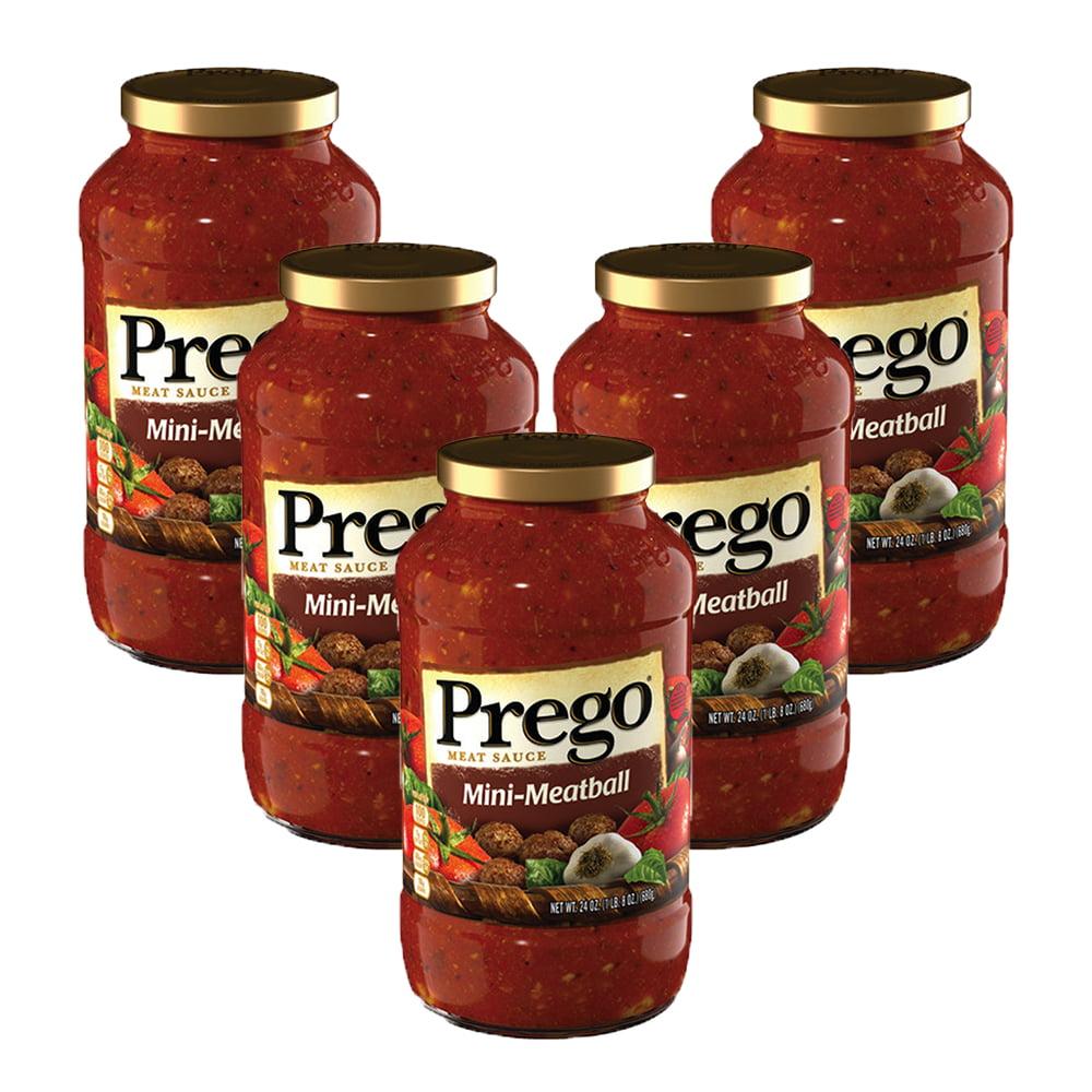 (5 Pack) Prego Mini-Meatball Meat Sauce, 24 oz.
