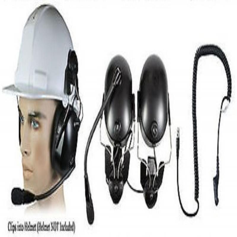 Pryme Headset Construction Hard Hat Motorola Radio XPR655...