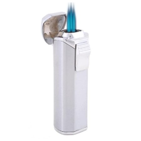 Trio Satin Finish Triple Flame Jet Flame Lighter with Built-In Cigar Punch - image 1 de 1