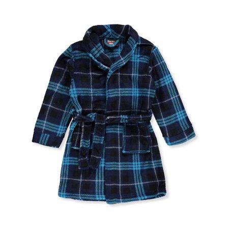 Mac Henry Boys' Plush Robe (Boys Black Robe)