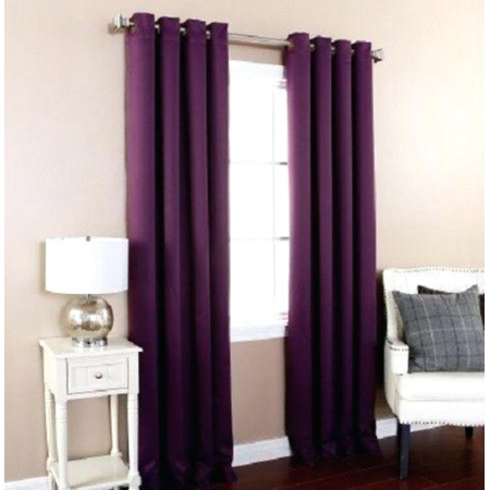 """Empire Home Amber Extra Wide Thermal Blackout Window Curtain (84"""" Standard, Purple)"""