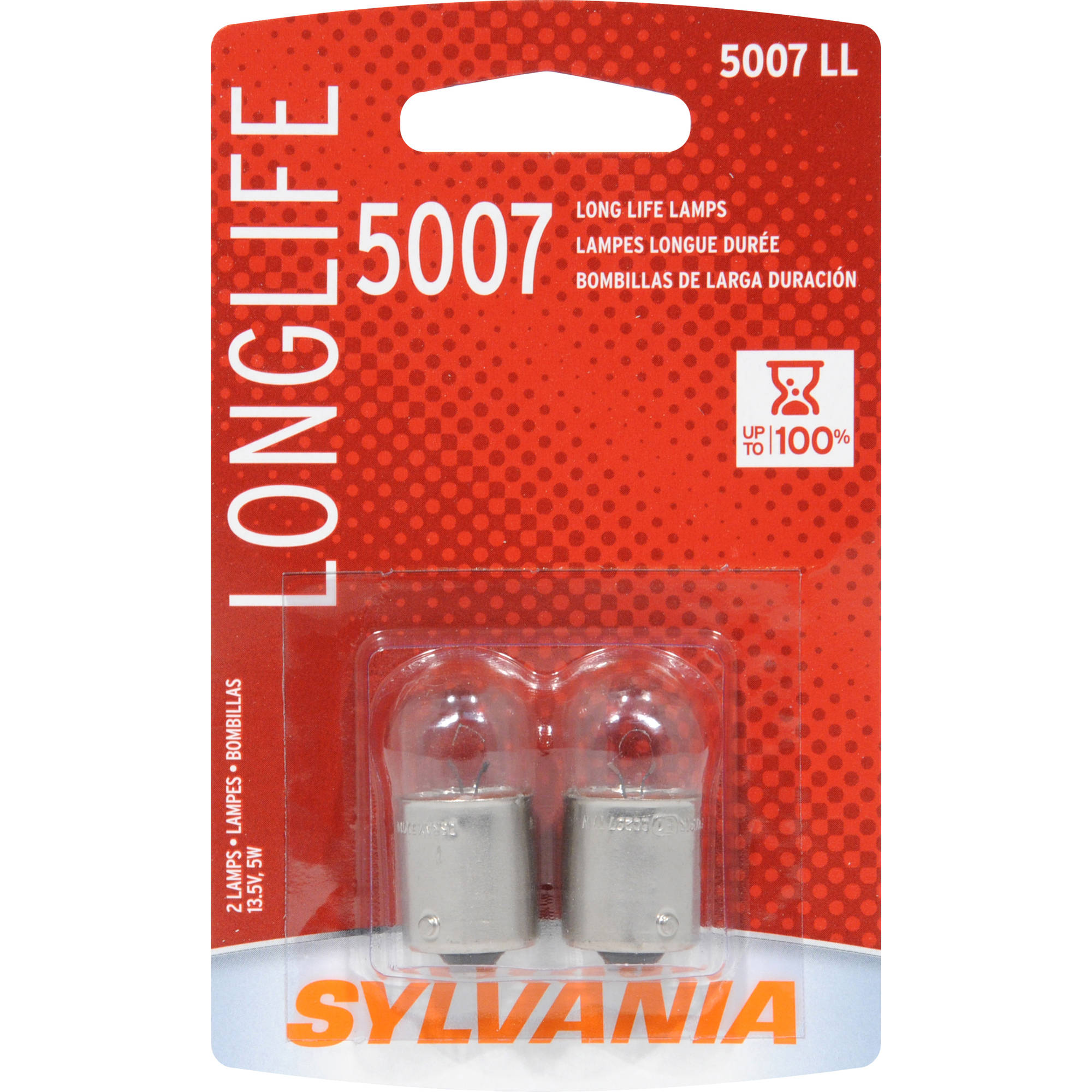 Sylvania 5007 Long-Life Miniature Bulb, Twin Pack