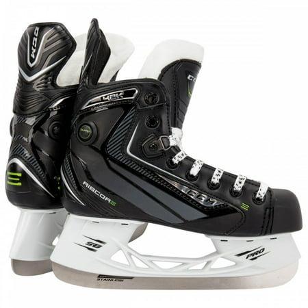 - New CCM Ribcor 42K SK42P Junior Pump Skate Ice Hockey Skates Youth 3 Blk/Gn
