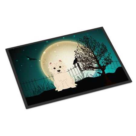 Halloween Scary Westie Door Mat - Halloween Scary Music Radio