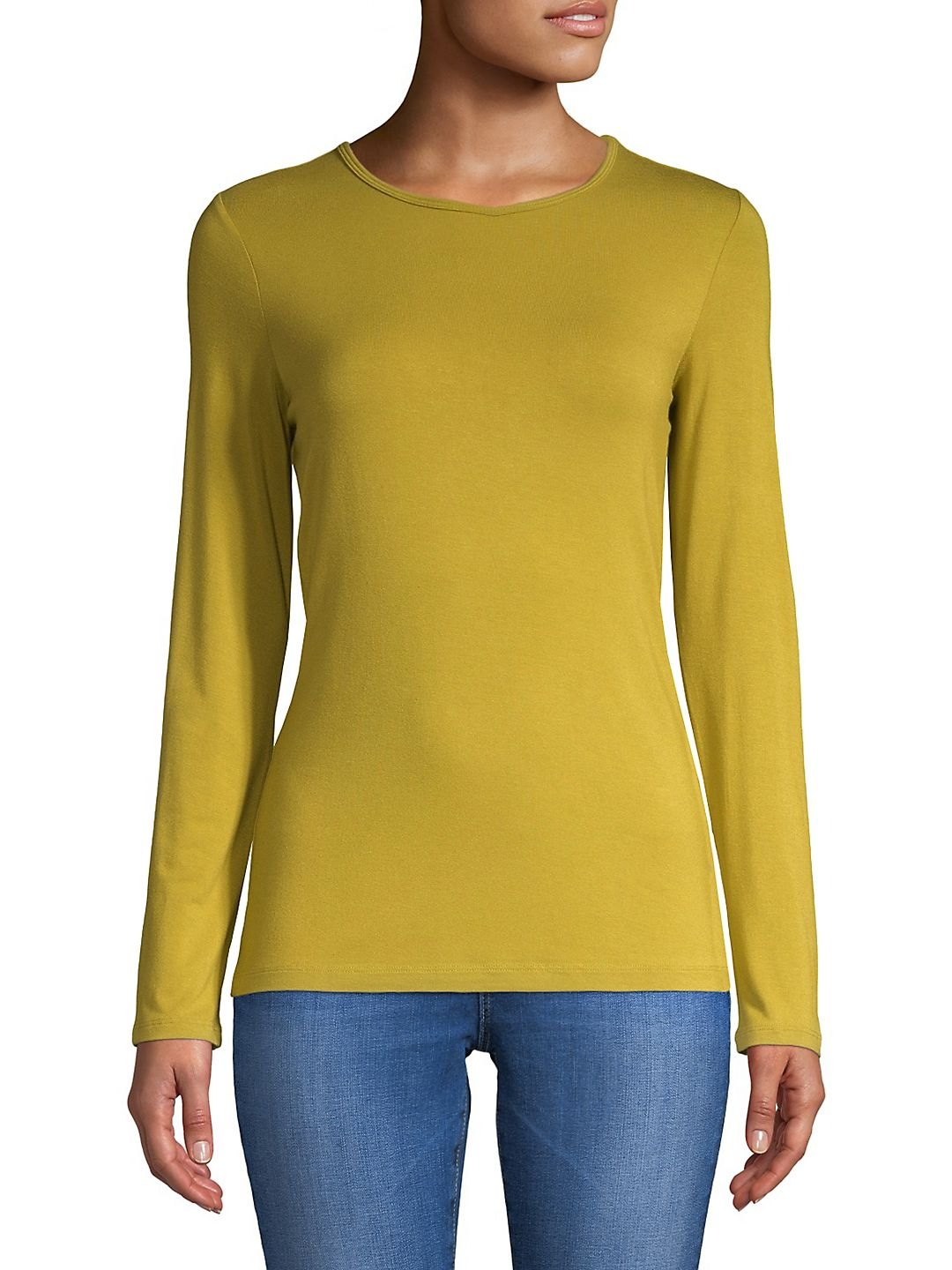 Long-Sleeve Iconic Fit Crew Neck Tee