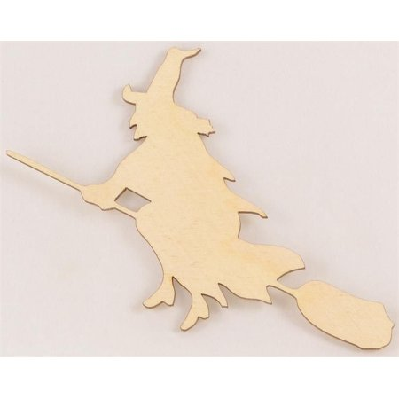 Package Of 50, Witch On Broom Cutout 4