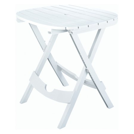 Adams Manufacturing Quik-Fold Cafe Table, White