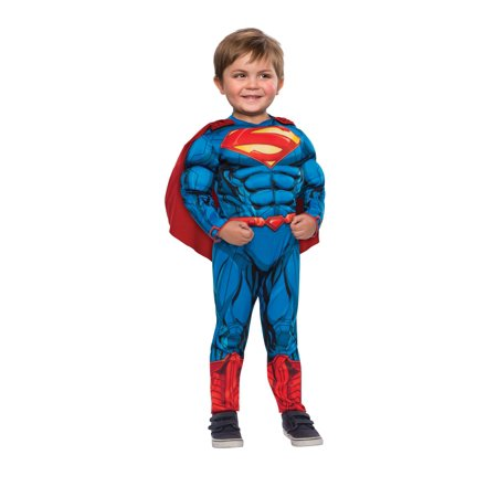Authentic Man Of Steel Costume (Rubies Superman Toddler Halloween)