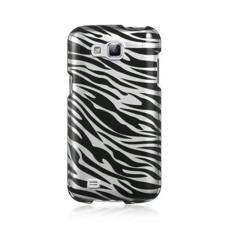 Insten For Samsung Galaxy Premier I9260 Crystal Case Silver Zebra - image 2 of 2