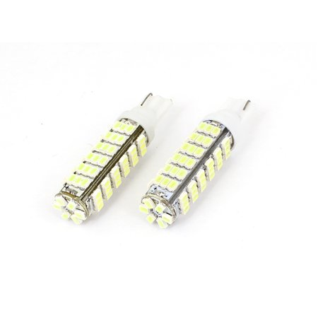 Unique Bargains2 x White 78 1206 SMD  Dashboard Gauge Turn Signal Lamp Bulb T10 for