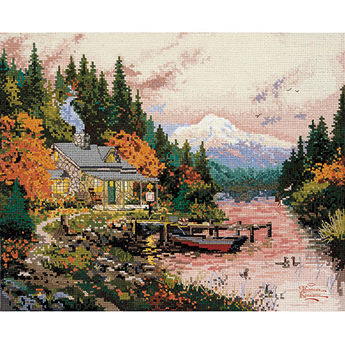 "M C G Textiles Thomas Kinkade The End Of A Perfect Day Counted Cross Stitch Kit, 14"" x 11"", 14 Count"