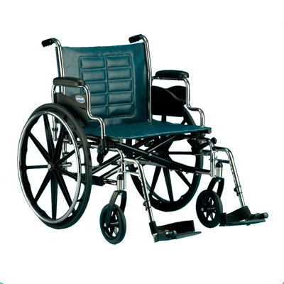 "Invacare Corporation T424RFA Tracer IV Manual Wheelchair - 24"" x 18"", Full Length Arms"