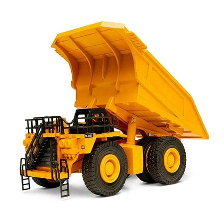 Top Race Metal Diecast Dump Truck Construction Toy Truck, Heavy Metal Mine Truck Model 1:40 Scale - TR