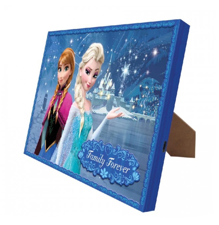 """8"""" x 10"""" Mr. Christmas Disney Frozen Illuminart Family Forever LED Lighted Canvas Wall Art #11834"""