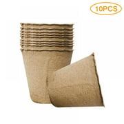 Eco Friendly 10//50//100x Nursery Cup Plant Pot 6cm Round Pulp Peat Biodegradable