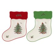 Spode Christmas Tree S/2 Stocking Dishes