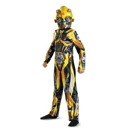 Transformers Bumblebee Classic Child Halloween Costume, One Size, L (10-12) - Bumblebee Costume Transforms Into Car