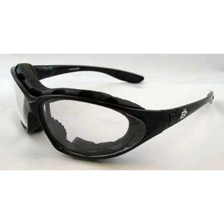 Soft Airy Foam (Birdz Eyewear Thrasher Motorcycle Glasses with Shatterproof Clear Lenses