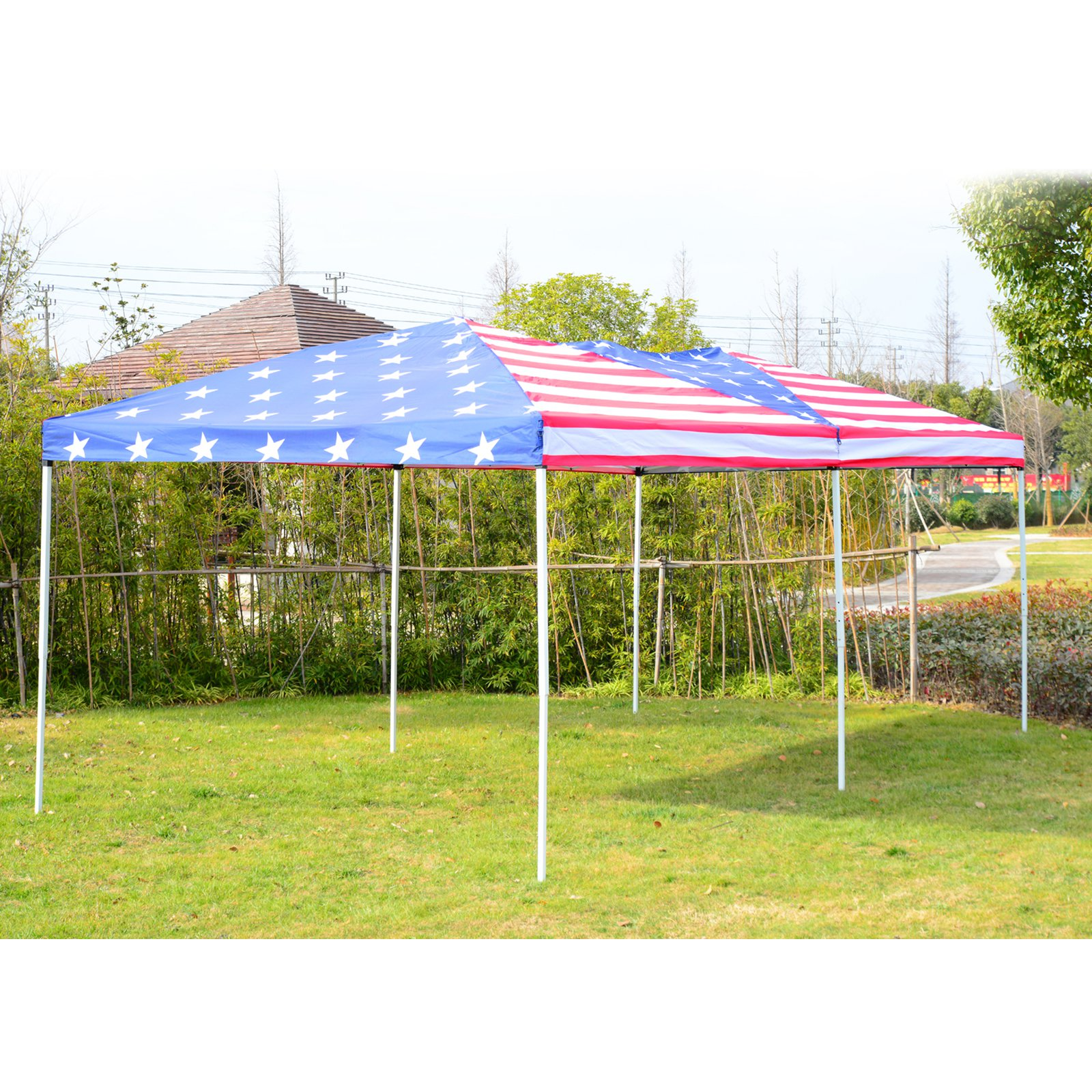 Outsunny 10 x 20 ft. Pop Up Shelter Party Tent Canopy with Mesh Walls