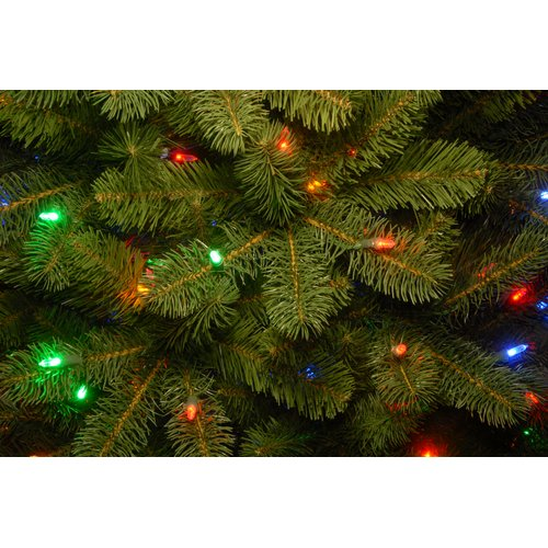 Charlton Home Downswept Douglas 78'' Green Fir Artificial Christmas Tree with 650 Clear/White Lights with Stand
