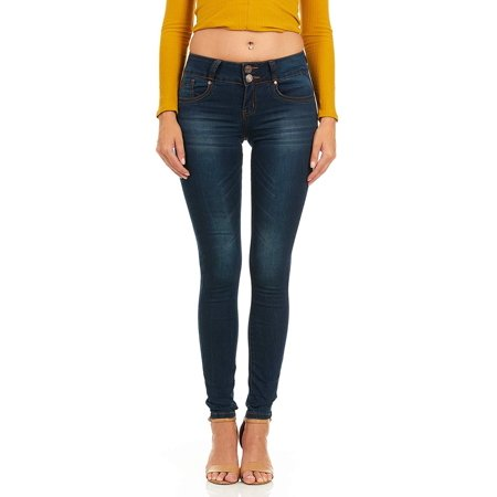 aed569cec60d YDX Jeans - Cover Girl Jeans Women Juniors Mid Rise Slim Fit Stretchy  Skinny Jeans 4 Options Plus Size 5 DARK (31