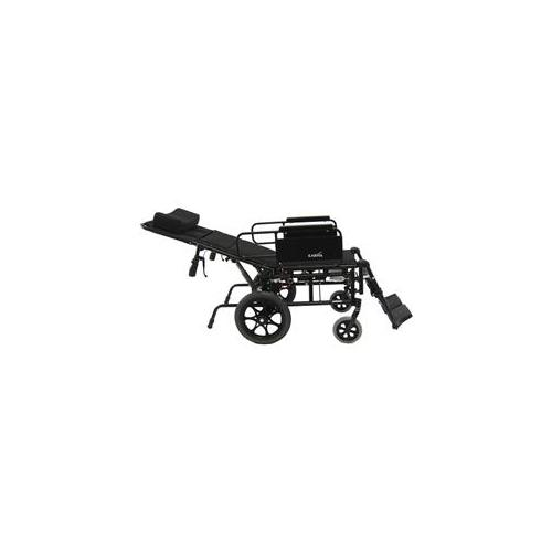 Karman Healthcare KM5000F20W KM5000 20 inch seat Lightweight Reclining Transport Wheelchair with Removable Desk Armrest