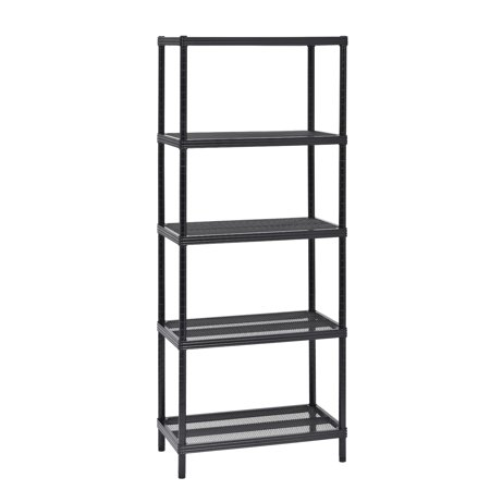 24 in. W x 59 in. H x 14 in. D 5-Tier Mesh Shelving Unit in Black