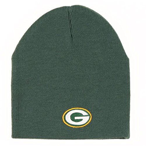Green Bay Packers Green Skull Cap NFL Cuffless Winter Knit Toque Beanie Hat by Reebok