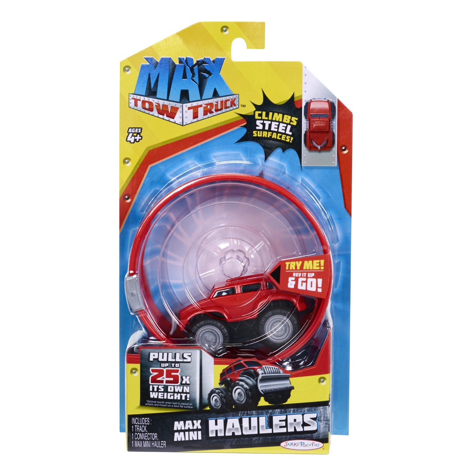 Max Tow Truck Mini Haulers Push, Body Style, Red - image 1 of 4