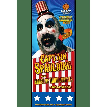 Trick or Treat Studios Men's House Of 1 000 Corpes-Captain Spaulding Makeup - White Halloween Makeup Walmart
