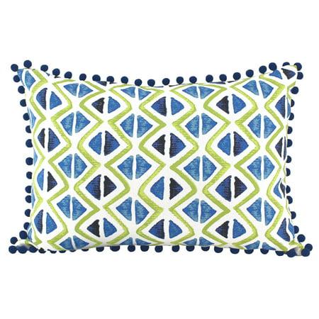- Mainstays Diamond Oblong Poms Decorative Throw Pillow, 14