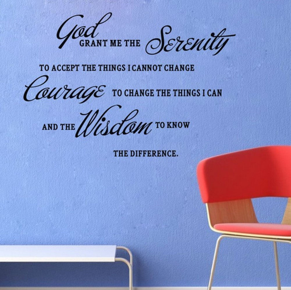 "Black 22"" x 12"" God grant me the serenity PRAYER BIBLE... Vinyl Wall Art Home Decor Decal Sticker"