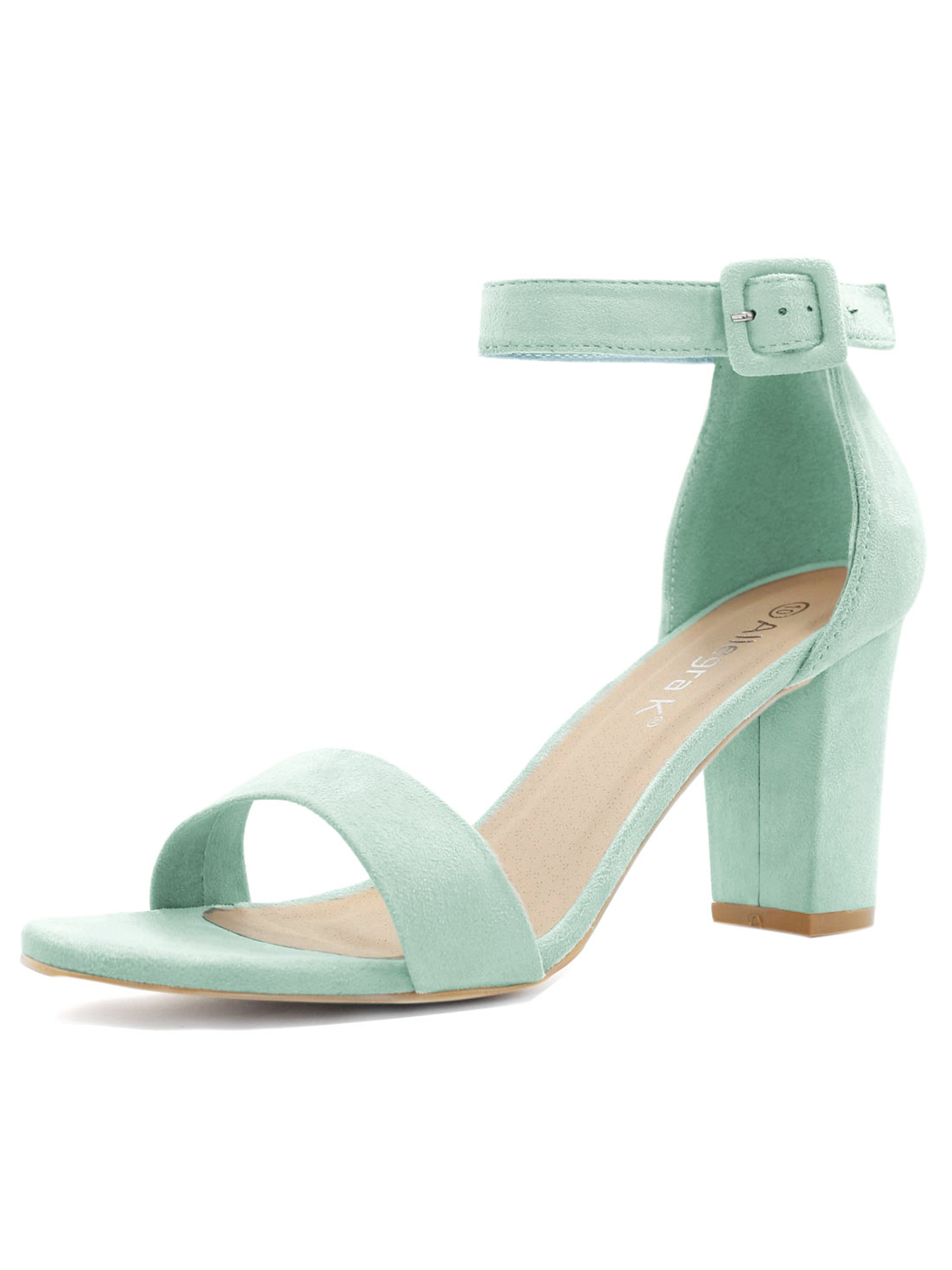bea5f3325d4 Unique Bargains Women s Chunky High Heel Open Toe Ankle Strap ...