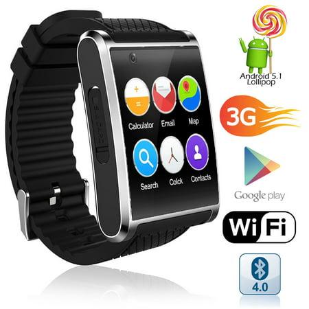 GSM UNLOCKED! Stylish Android 5.1 Smart Watch Phone GSM 3G+WiFi GPS + (Best Stylish Smart Watches)