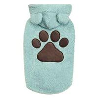 Zack & Zoey UE1115 14 19 Elements Cuddle Bear Dog Jacket, Blue - Medium