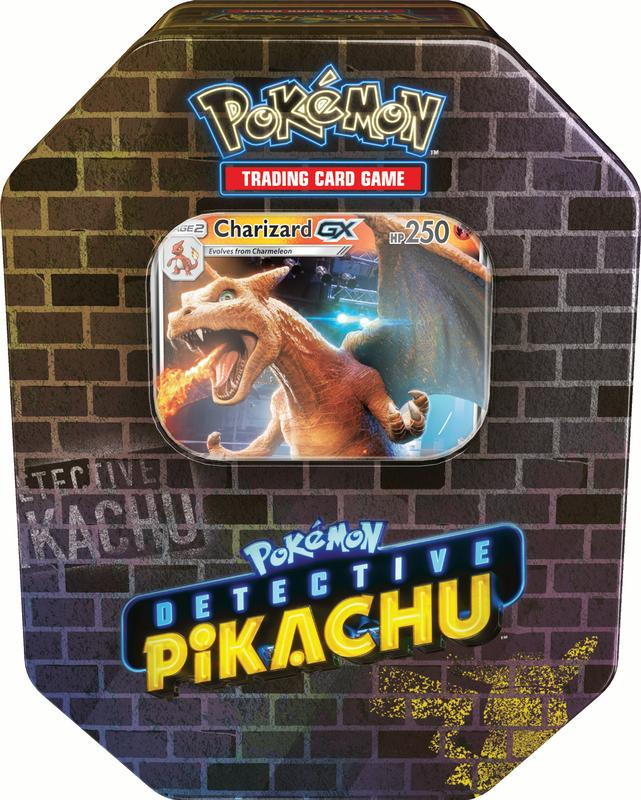 Pokemon Detective Pikachu Gx Tin Charizard Includes 1 Foil Charizard Gx Card 4 Booster Packs From Detective Pikachu Series Walmart Com Walmart Com