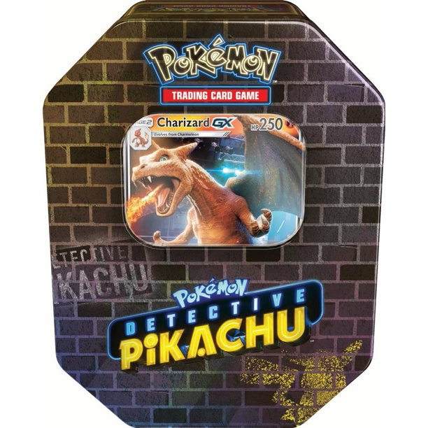 Pokemon Detective Pikachu Gx Tin Charizard Includes 1 Foil