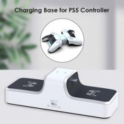 PS5 Controller Charger Station, Dual Charging Dock Stand with LED Indicator Lamp, USB Quick Charger for PS5 Dual Sense Gaming Console Gamepad Accessories