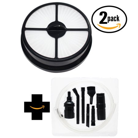 2-Pack Replacement Hoover WindTunnel Air (UH70400 Series) Vacuum HEPA Filter with 7-Piece Micro Vacuum Attachment Kit - Compatible Hoover 68115, HF-16 (Hoover Wind Tunnel Vacuum Hepa Filter Replacement)