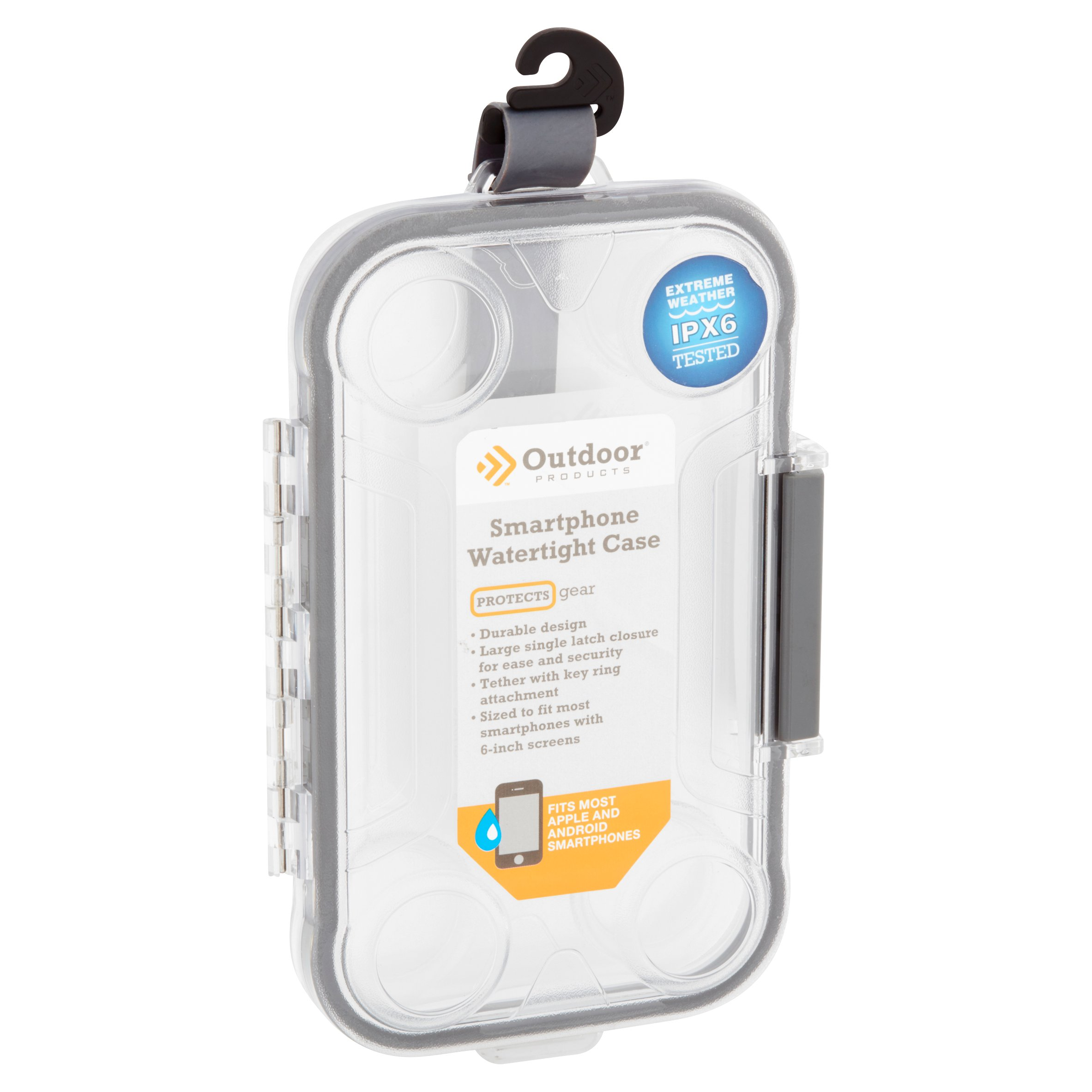 online store 5e964 52465 Outdoor Products Smartphone Watertight Case - Box, Clear - Walmart.com
