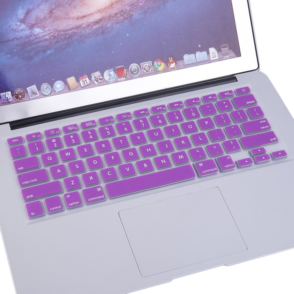 """LESHP Hot Durable Hard Rubberized Case + Keyboard Cover For MacBook Retina 12"""" Purple"""